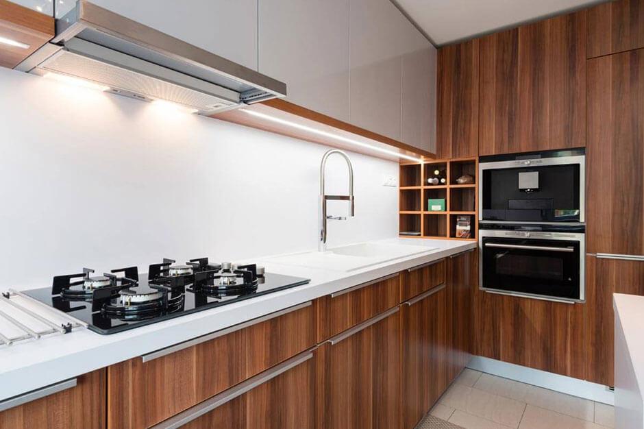Nowoczesna kuchnia ze sprzętem AGD