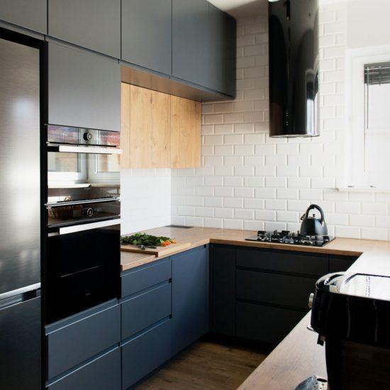 Kuchnia garfitowa z drewnem